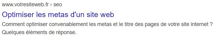 Balise meta search Google